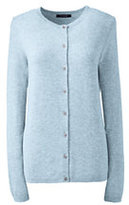 Lands' End Women's Cashmere Cardigan Sweater-Cloud Heather