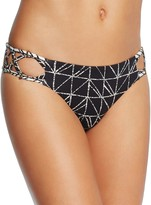 Dolce Vita Lattice Side Printed Bikini Bottom