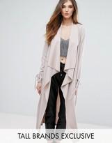Missguided Tall Tie Sleeve Sleeve Duster Coat
