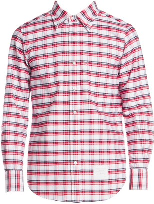 Thom Browne Straight-Fit Button-Down Check Shirt