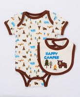 Buster Brown Mustang 'Happy Camper' Two-Piece Bodysuit & Bib