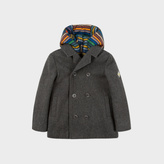 Paul Smith Boys' 7+ Years Grey Wool-Cashmere Coat With Removable Gilet