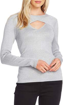 Vince Camuto Front Cutout Detail Long Sleeve Sweater