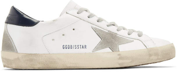 Golden Goose White and Grey Superstar Sneakers