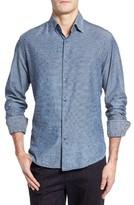 Stone Rose Men's Triangle Jacquard Sport Shirt