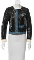 DSQUARED2 Quilted Leather Jacket