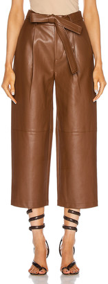 Alexis Roy Vegan Leather Pant in Aragon Brown | FWRD