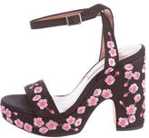 Tabitha Simmons Floral Canvas Sandals