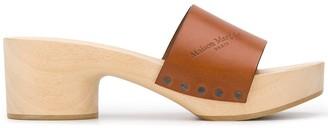 Maison Margiela Tabi split toe wooden clogs