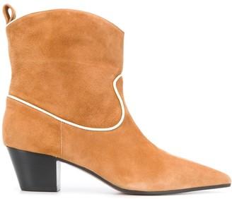L'Autre Chose Contrast-Trim Cowboy Boots