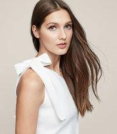 Reiss Henrieta One-Shoulder Knitted Top