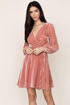 Yumi Kim Duchess Wrap Dress Velvet