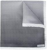 Lanvin chevron stripe pattern scarf