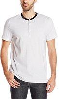 Kenneth Cole New York Men's Jacquard Henley Shirt