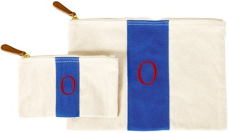 Cathy's Concepts Personalized Stitched Stripe Canvas Clutch Set