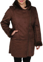JCPenney Excelled Leather Excelled Faux-Shearling 3/4-Length Coat