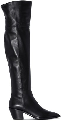 Gianvito Rossi 45mm leather Western boots