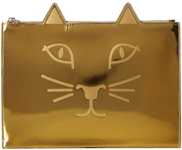 Charlotte Olympia #Kitty Pouch Clutch Handbags