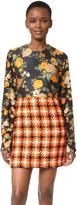 MSGM Silk & Plaid Dress