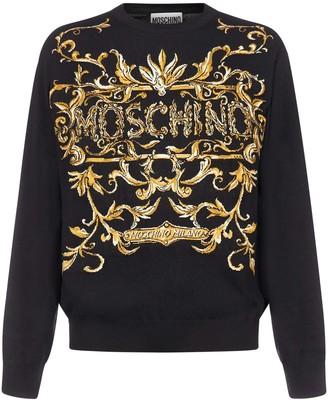 Moschino Intarsia-logo Wool Sweater
