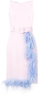 Prada Feather Trimmed Dress