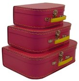 CARGO Vintage Travelers Mini Suitcases, Set of 3, Pinkberry