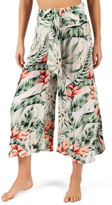Rip Curl Tropic Heat Palm Print Crop Pants