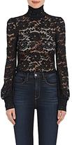 L'Agence Women's Samara Floral Lace Turtleneck Top