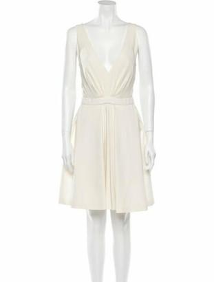 J. Mendel Plunge Neckline Mini Dress