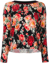 Twin-Set floral printed top - women - Polyester/Wool - S