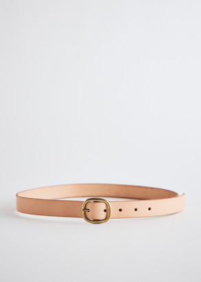 Maximum Henry Men's Slim Oval Belt in Natural, Size X Small   Leather