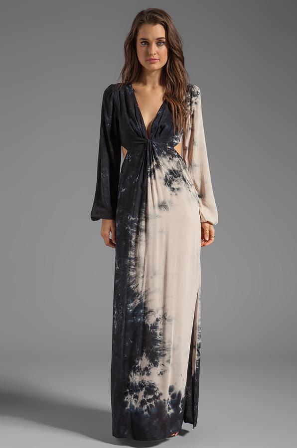 Blu Moon V-Neck Bell Sleeve Dress