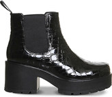 Vagabond Dioon embossed patent leather chelsea boots