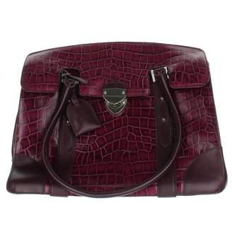 Aspinal of London Purple Leather Handbags