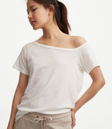 Lou & Grey Softserve Cotton Off The Shoulder Tee