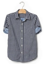 Gap Gingham doubleweave convertible shirt