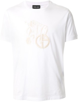Giorgio Armani embroidered T-shirt