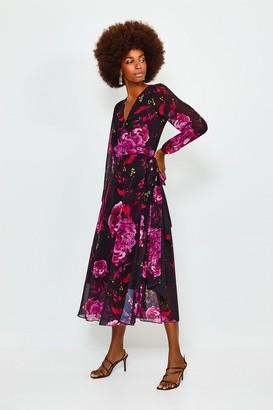 Karen Millen Print Drama Wrap Dress