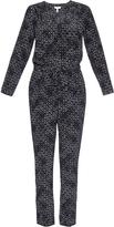 Rebecca Taylor Box Step printed silk jumpsuit