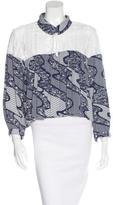 Sea Long Sleeve Printed Blouse