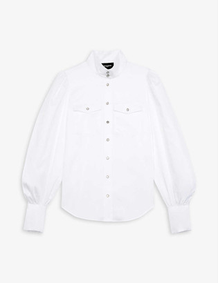 The Kooples Puff-sleeve cotton shirt