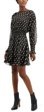 INC International Concepts Inc Paisley-Print Ruffled Mini Dress, Created for Macy's