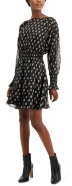 INC International Concepts Inc Petite Printed Ruffle-Hem Dress, Created for Macy's
