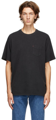 Levi's Levis Black Relaxed-Fit Pocket T-Shirt