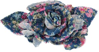 Philosophy di Lorenzo Serafini Printed Flower Brooch