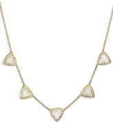 Jacquie Aiche Five Opal Pyramid Necklace