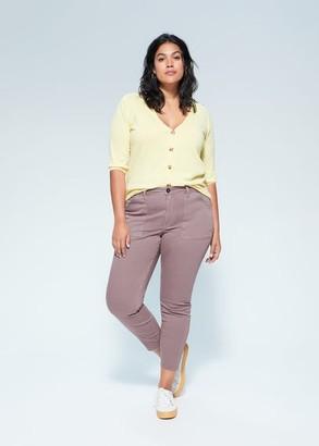 MANGO Violeta BY Super slim jeans lavender - 10 - Plus sizes