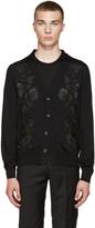 Alexander McQueen Black Embroidered Floral Cardigan