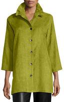 Caroline Rose Faux-Suede Long Shirt, Plus Size