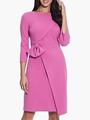 Adrianna Papell Bow Waist Dress, Raspberry Pink